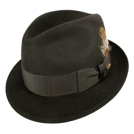 Jet Fur Felt Fedora Hat alternate view 8