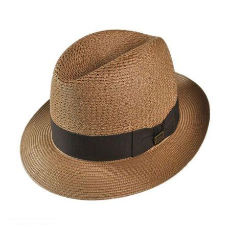 Dobbs Madison Milan Straw Fedora Hat