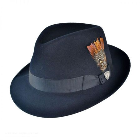 Nitro Low Crown Fur Felt Fedora Hat