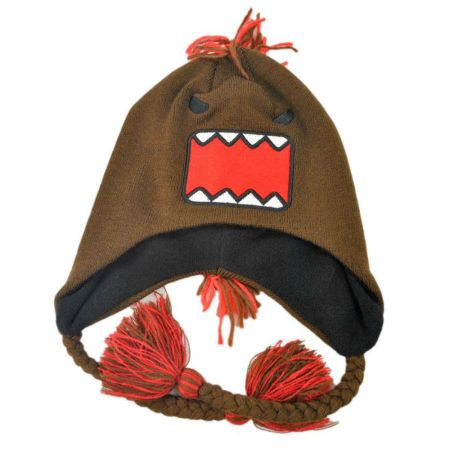Domo Mohawk Domo Knit Acrylic Peruvian Beanie Hat