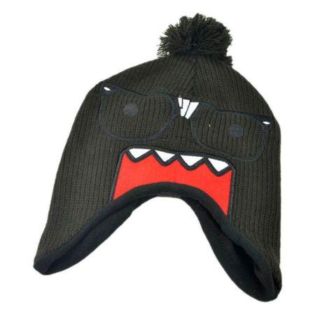 Domo Nerd Face Pom Peruvian Beanie Hat