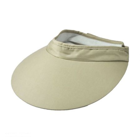 Dorfman Pacific Big Brim Cotton Visor