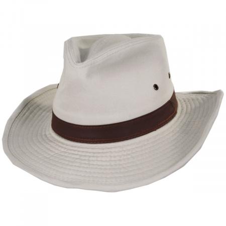 Dorfman Pacific Company Cotton Twill Outback Fedora Hat