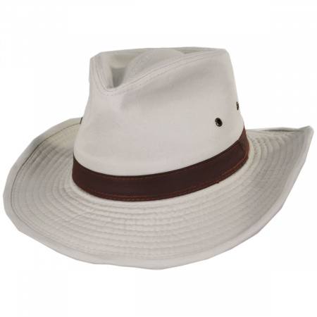 Cotton Twill Outback Fedora Hat