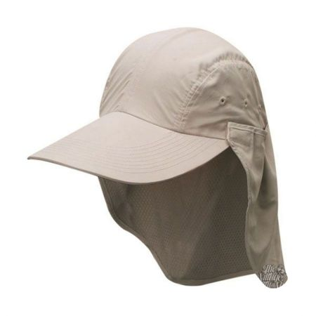 Dorfman Pacific Microfibre Flap Baseball Cap