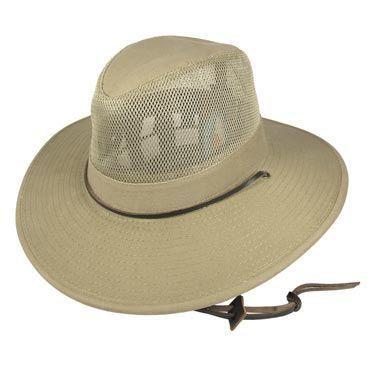 Dorfman Pacific Kids' Mesh Crown Aussie Hat