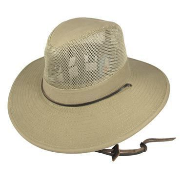 Dorfman Pacific Mesh Crown Aussie Hat - 2X and 3X