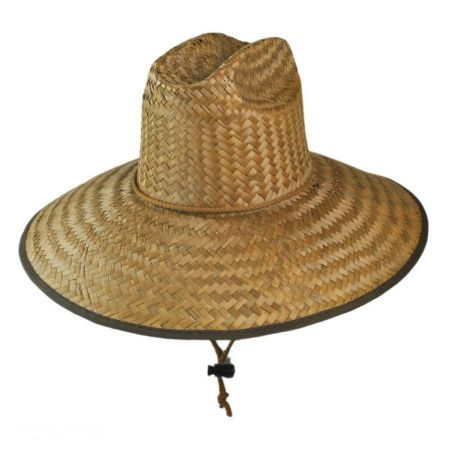 Dorfman Pacific Company Palm Leaf Straw Lifeguard Hat