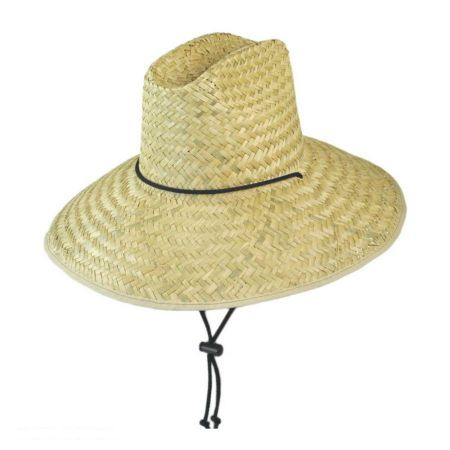 Palm Leaf Straw Lifeguard Hat