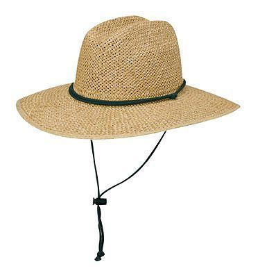 Dorfman Pacific Open Weave Straw Lifeguard Hat