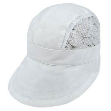 Dorfman Pacific Tennis Cotton and Mesh Visor Cap