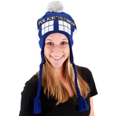 Doctor Who Dr. Who TARDIS Knit Acrylic Peruvian Beanie Hat