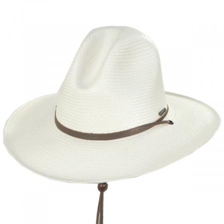 Down River Shantung Straw Gus Western Hat