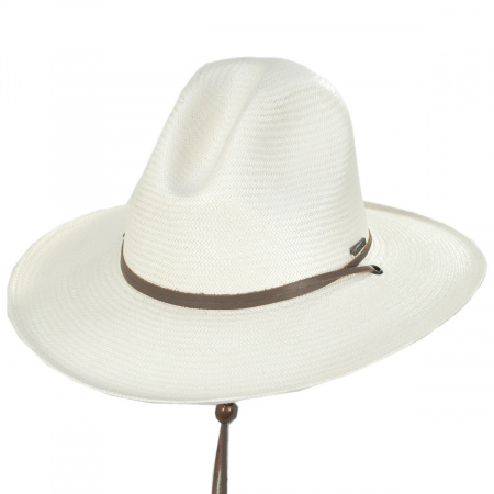 Stetson Down River Shantung Straw Gus Western Hat