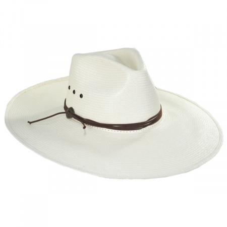 Canopy Shantung Straw Western Hat