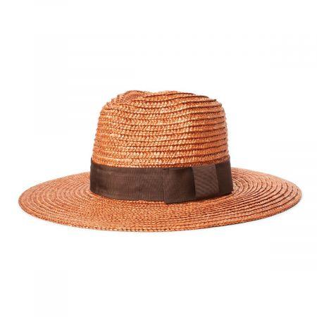 Joanna Copper Wheat Straw Fedora Hat