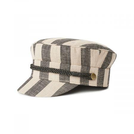 Brixton Hats Albany Linen Striped Fisherman's Cap