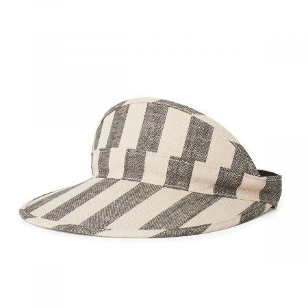 Brixton Hats Monroe Linen Stripe Visor