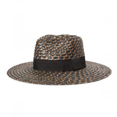 Brixton Hats Joanna Blackwash Wheat Straw Fedora Hat