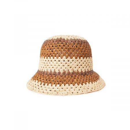Essex Crochet Raffia Straw Bucket Hat