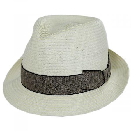 Luigi Toyo Straw Fedora Hat alternate view 5