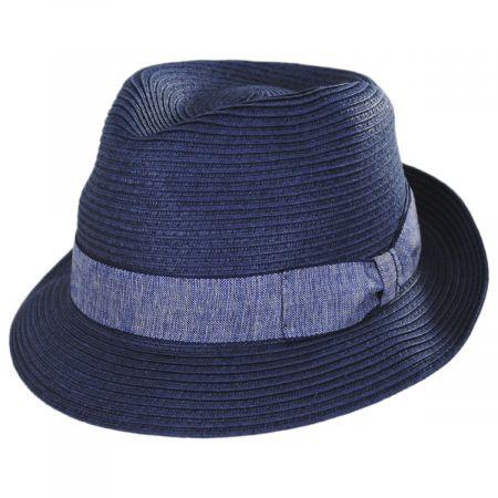 Luigi Toyo Straw Fedora Hat