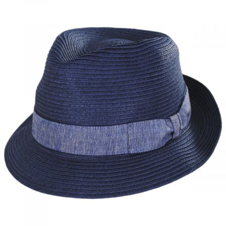 Luigi Toyo Straw Fedora Hat alternate view 5