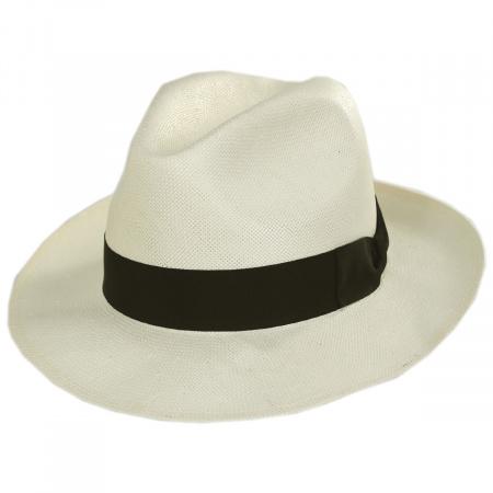 Stefeno Nice Shantung Straw Fedora Hat