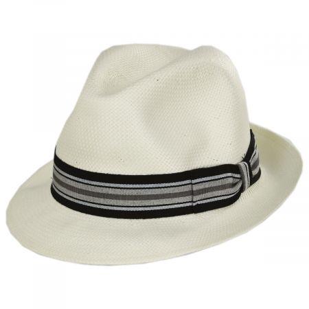 Stefeno Orleans Toyo Straw Fedora Hat