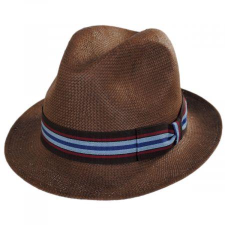 Stefeno Orleans Brown Toyo Straw Fedora Hat