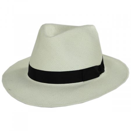 Stefeno Cannes Toyo Straw Fedora Hat