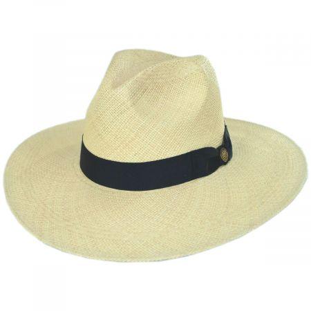 Stetson Naturalist Wide Brim Panama Straw Fedora Hat