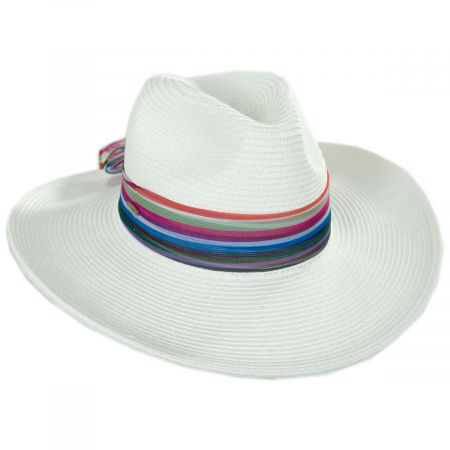 Karen Keith Horizon Toyo Braid Straw Fedora Hat