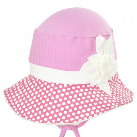 Kids' Eco Pink Cotton Blend Sun Hat
