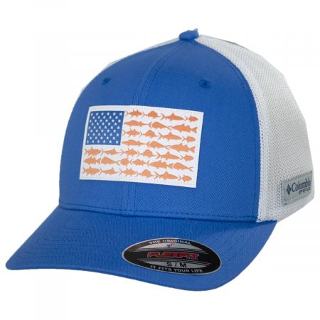 PFG Fish Flag Mesh FlexFit Fitted Baseball Cap alternate view 19
