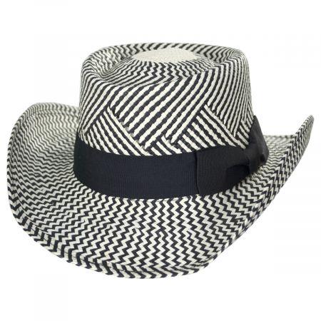 Kenny K Two-Tone Toyo Straw Gambler Hat
