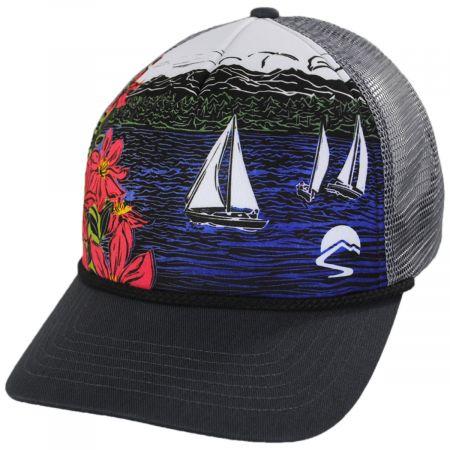 Sail Away Trucker Snapback Baseball Cap