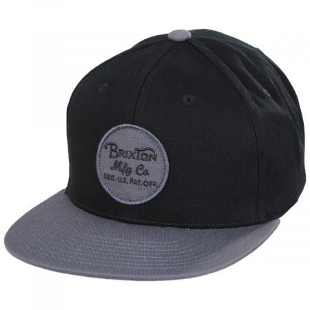Brixton Hats Wheeler Snapback Baseball Cap - Black/Charcoal
