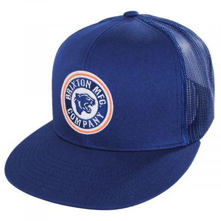 Brixton Hats Forte Mid Pro Trucker Snapback Baseball Cap - Blue