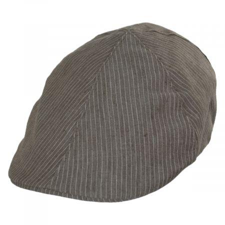 Stefeno Bass Striped Linen Duckbill Ivy Cap