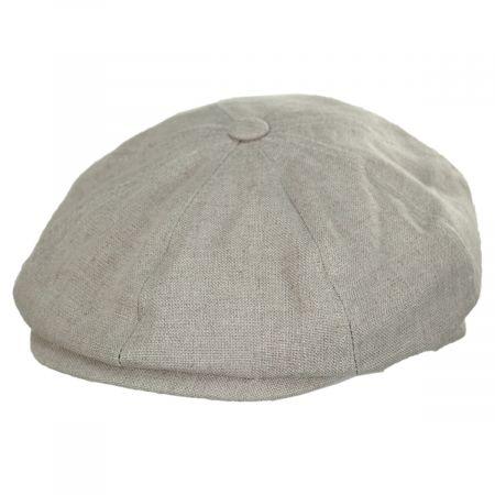 Holmes Beige Linen Newsboy Cap