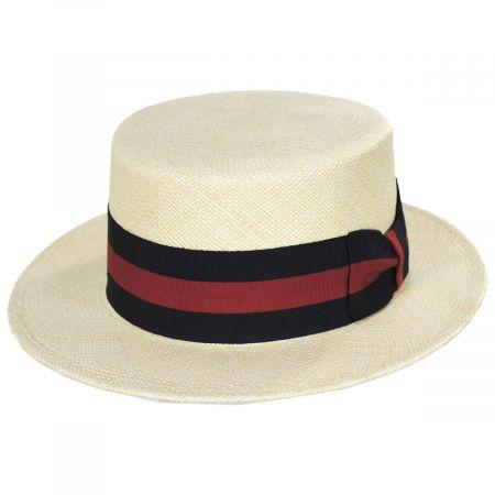 Capas Headwear Panama Straw Skimmer Hat