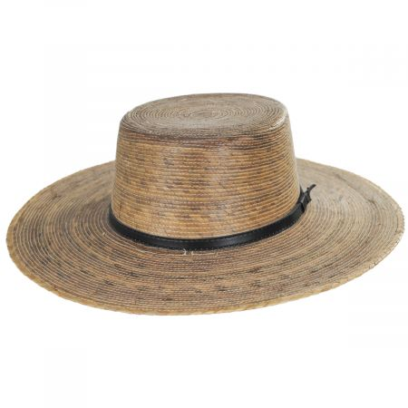 Palm Straw Boater Hat