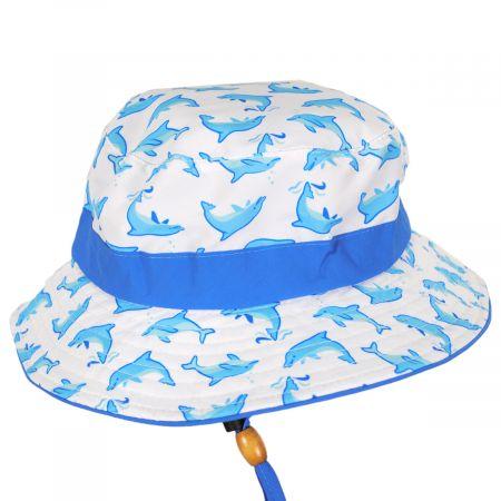 Scala Kids' Marine Chin Cord Bucket Hat