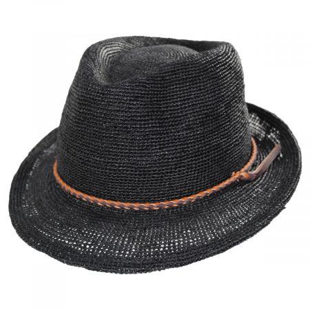 Morning Glory Raffia Fedora Hat