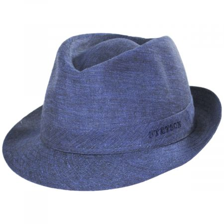 Linen Delave Trilby Fedora Hat alternate view 17