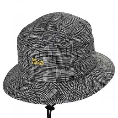 Brixton Hats Stith Linen and Cotton Plaid Bucket Hat