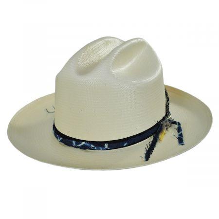 Wildling Shantung Straw Open Road Western Hat