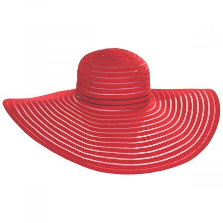 Karen Keith Ribbon and Mesh Swinger Sun Hat
