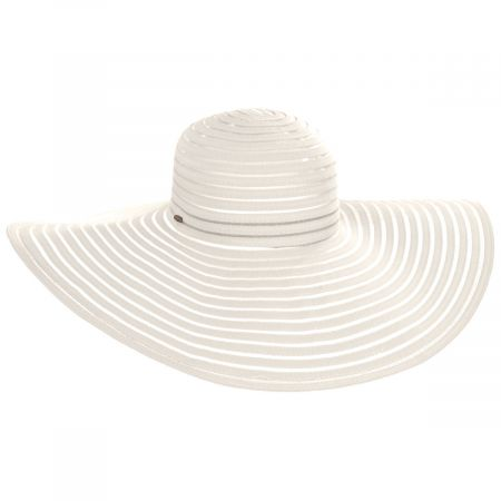 Karen Keith Ribbon and Mesh Swinger Sun Hat